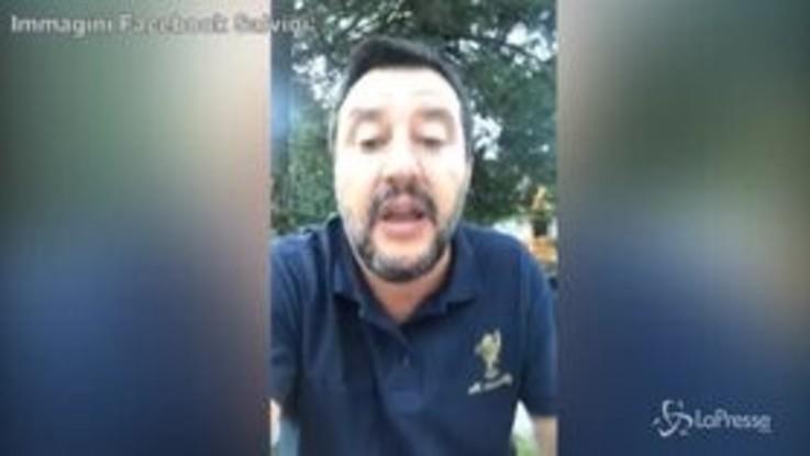 """Governo, Salvini: """"Lo riconosco, il Pd è 1-0 sulla Lega , ma il rigore è inesistente"""""""