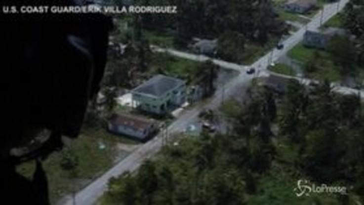 Dorian, la Guardia costiera Usa sorvola le Bahamas devastate dall'uragano