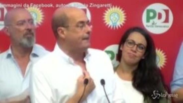 """Zingaretti: """"Domani in Parlamento si volta pagina"""""""