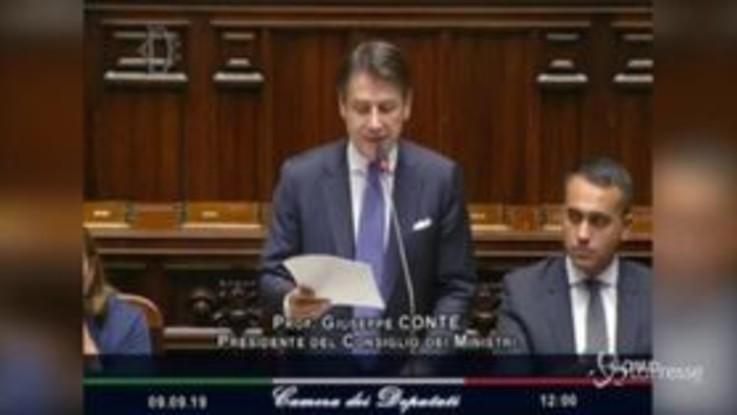 """Governo, Conte: """"Impegno su taglio parlamentari e riforma elettorale"""""""