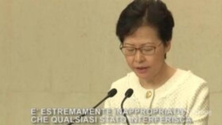 "Hong Kong, Carrie Lam: ""No a ingerenze esterne nella crisi"""