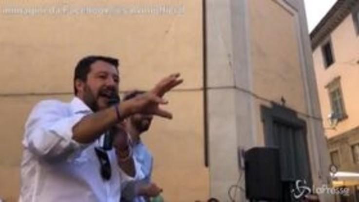 """Elezioni Umbria, Salvini: """"Ascolto le critiche sul reddito di cittadinanza: favorisce il lavoro nero"""""""