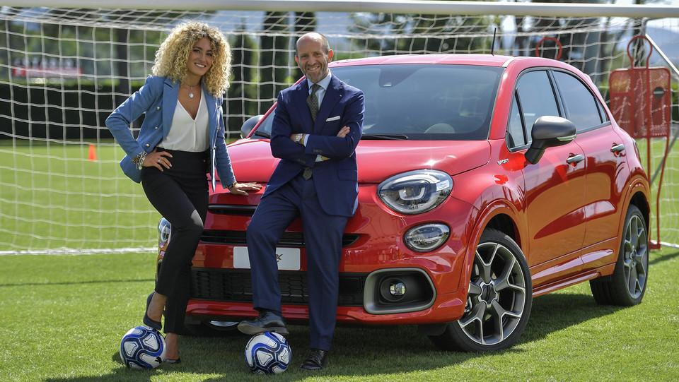 Luca Napolitano, Head of EMEA Fiat and Abarth Brands, Maria Luisa Cravana, nutrizionista Nazionale Giovanili ©