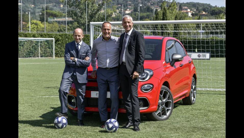 Luca Napolitano, Head of EMEA Fiat and Abarth Brands,Santo Ficili, Head of Italy BCI & EMEA Sales Operations - Head of Mopar service, parts & customer care, Antonio Cabrini ©