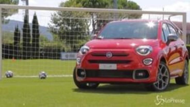 Fiat, esordio sul campo di Coverciano per la 500X Sport