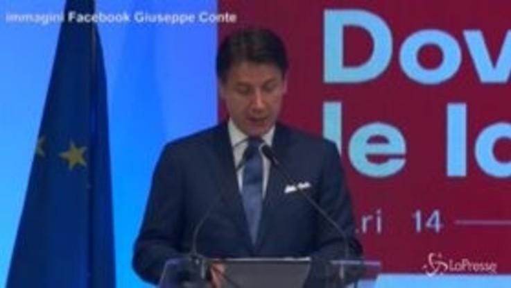 """Conte: """"Fiducia all'Italia, mercati scommettono su nuova fase politica"""""""