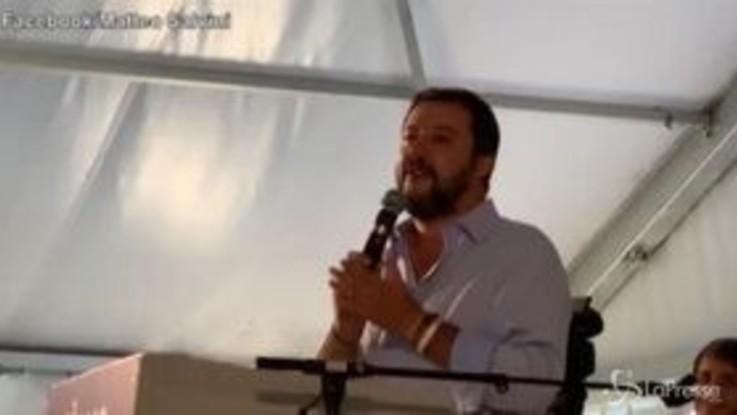 """Pontida, coro dei giovani leghisti: """"Di Maio torna al S.Paolo"""""""