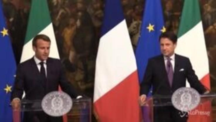 Macron a Conte: