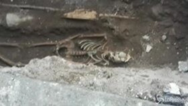 Ritrovamento choc a Roma: scheletro umano scoperto davanti alla metro Piramide | VIDEO