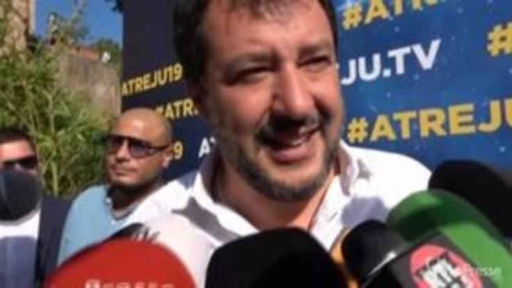 """Atreju, Salvini: """"Questo governo non c'è più"""""""