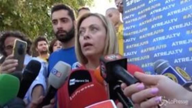 """Atreju, Meloni: """"Renzi non è un big della politica"""""""