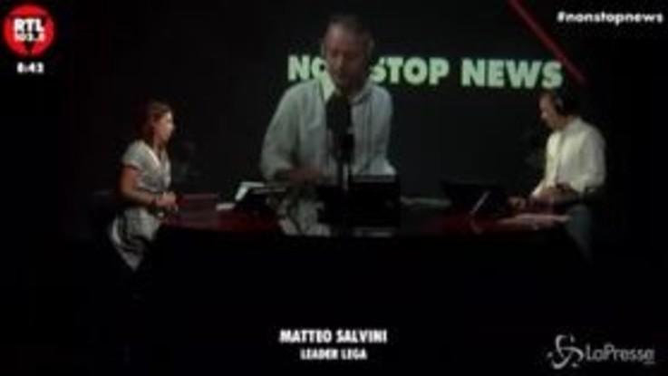 """Salvini: """"Conte ha cambiato faccia, pensavo fosse una persona diversa"""""""