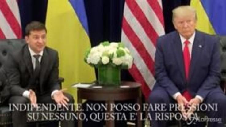 """Zelensky sulla telefonata con Trump: """"Nessuna pressione"""""""