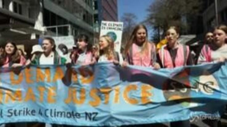Fridays For Future, migliaia di studenti scioperano per il clima in Nuova Zelanda
