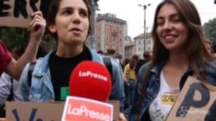 """Sciopero clima, le voci degli studenti milanesi: """"E' già troppo tardi"""""""