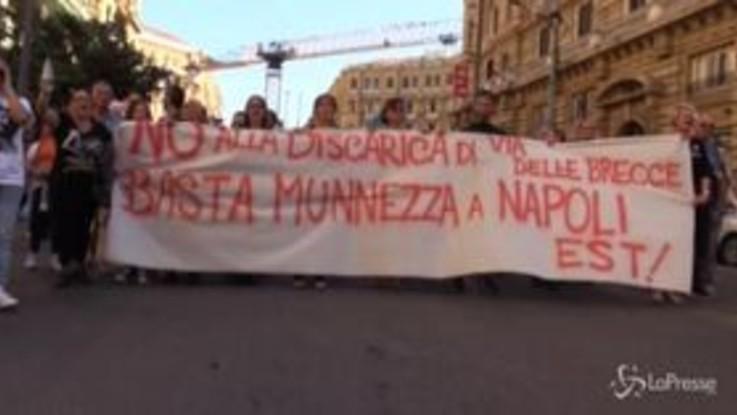 """Fridays for future, Napoli Est in piazza: """"Chiudere discarica via Brecce, situazione invivibile"""""""