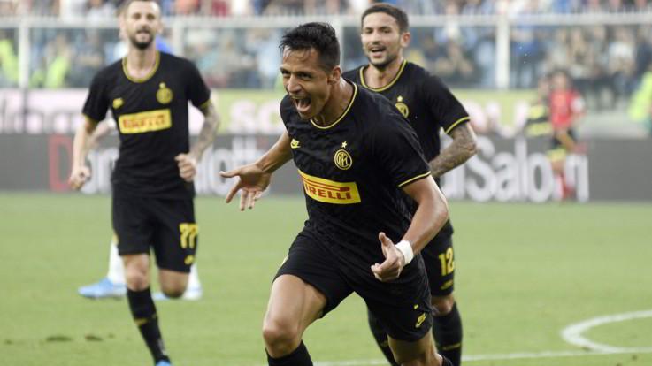 Serie A,Inter sempre più da record, Samp ko. Sanchez show poi il rosso