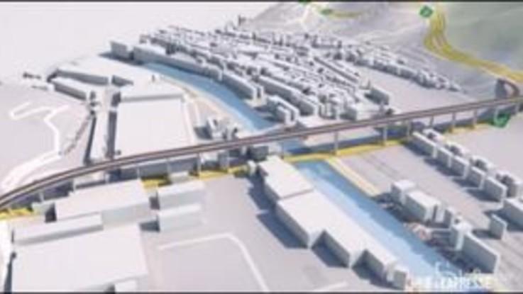 Genova, il nuovo ponte in motion graphic a confronto con il Morandi
