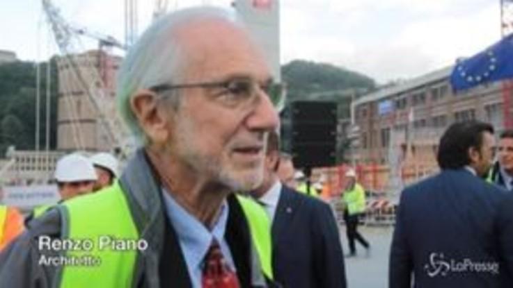 """Ponte Genova, Renzo Piano: """"L'orgoglio di fare una cosa grande vince su tutto, anche sulla paura"""""""