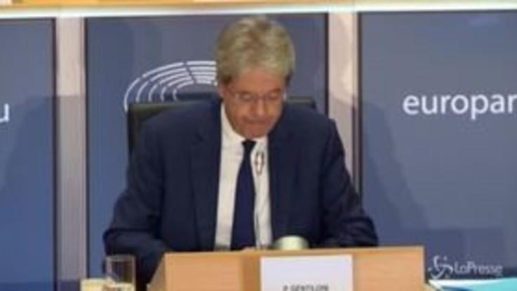 """Gentiloni al Parlamento Ue: """"Il mio un programma ambizioso e condiviso"""""""