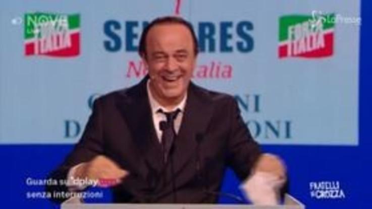 """Crozza-Berlusconi: """"Combattere l'evasione? Ma siamo matti? Col mazzo che mi sono fatto per legittimarla"""""""