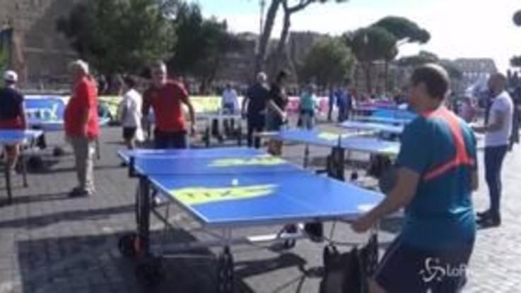 Ping Pong Fest a Roma: il tennis tavolo arriva sui Fori Imperiali