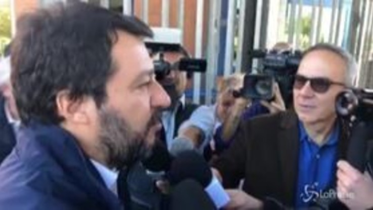 """Salvini al carcere di Terni: """"Gli altri visitano i detenuti io parlo con i poliziotti"""""""