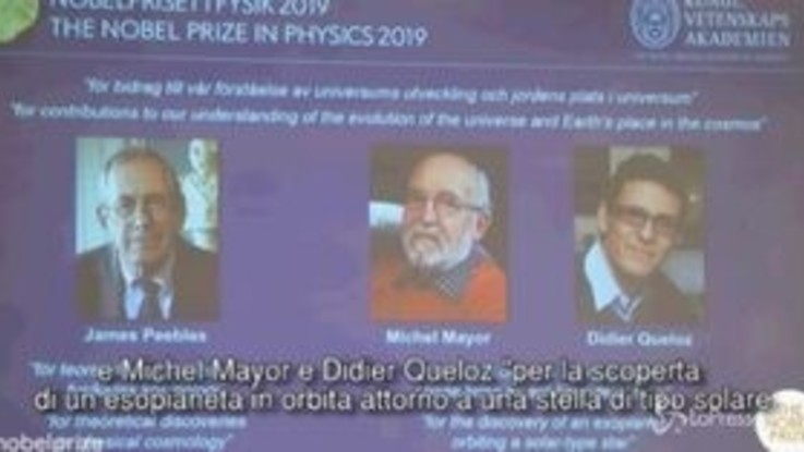 Nobel: premio Fisica a Peebles, Mayor e Queloz