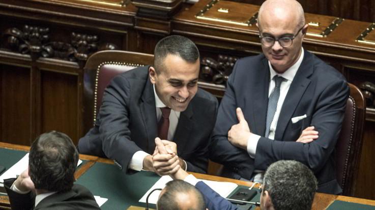Taglio dei parlamentari, via libera della Camera con 553 sì