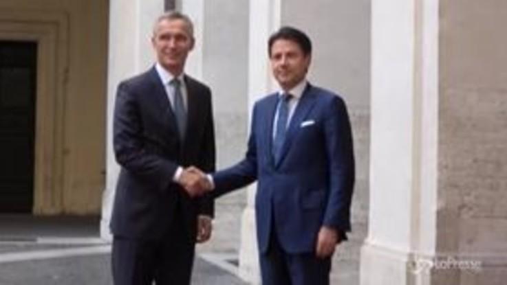 Governo, il premier Conte riceve il Segretario Generale Nato Stoltenberg
