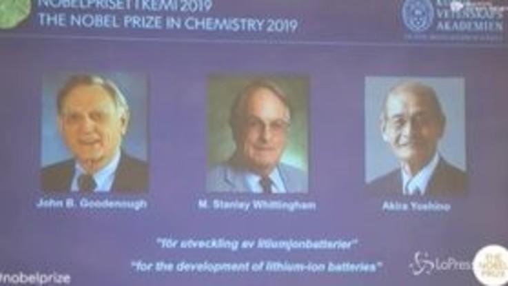 Nobel, premio Chimica per lo sviluppo di batterie agli ioni di litio
