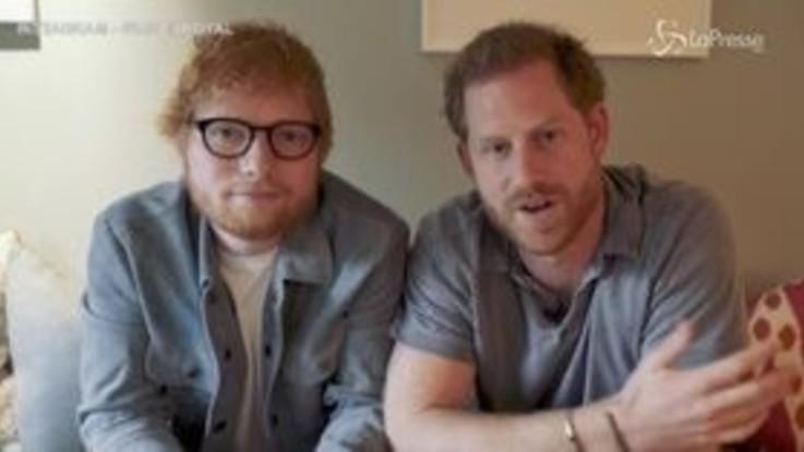 Ed Sheeran e il principe Harry insieme per la giornata mondiale della salute mentale