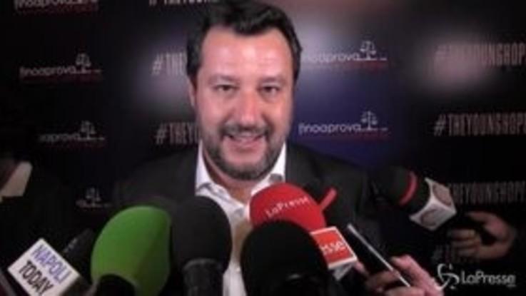 """Salvini: """"I campani daranno il benservito a De Luca, De Magistris e Di Maio"""""""