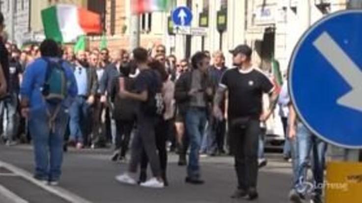 """Casapound alla manifestazione del centrodestra, Di Stefano: """"Qui per portare idee, Noi non ci candidiamo più"""""""