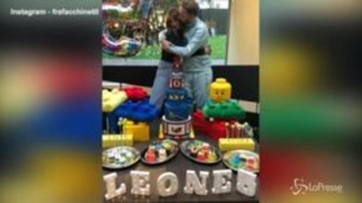 La mega festa di baby Facchinetti, Leone compie 5 anni