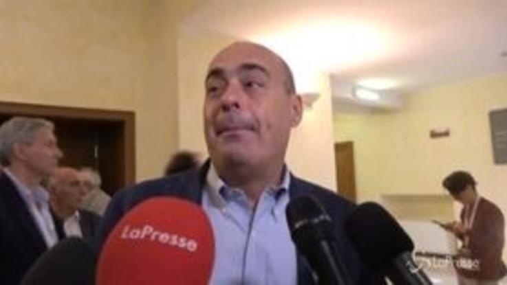 """Zingaretti: """"Aggressioni a Segre sono contro tutti noi, reazione militante"""""""