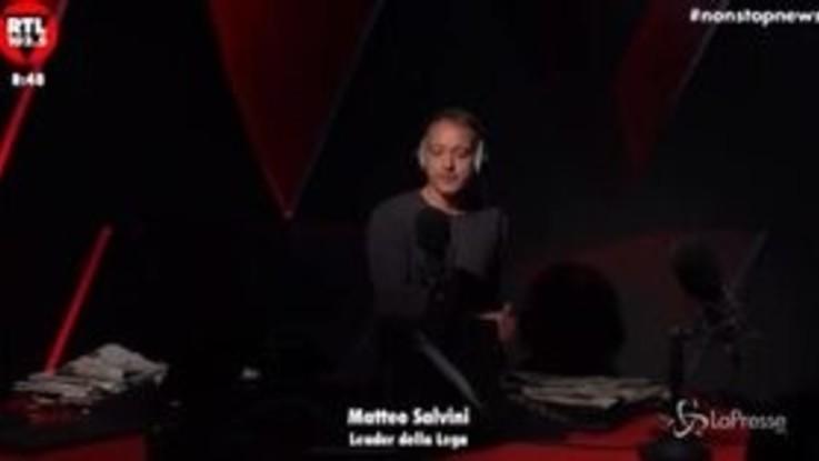 """Matteo Salvini a Rtl 102.5: """"Su Conte tante ombre"""""""