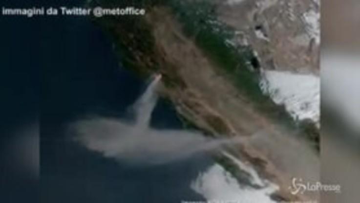 I roghi della California visti dal satellite