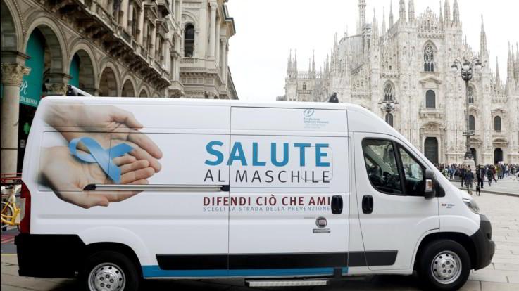 Milano, tour per la prevenzione maschile di Fondazione Veronesi e Fiat Professional