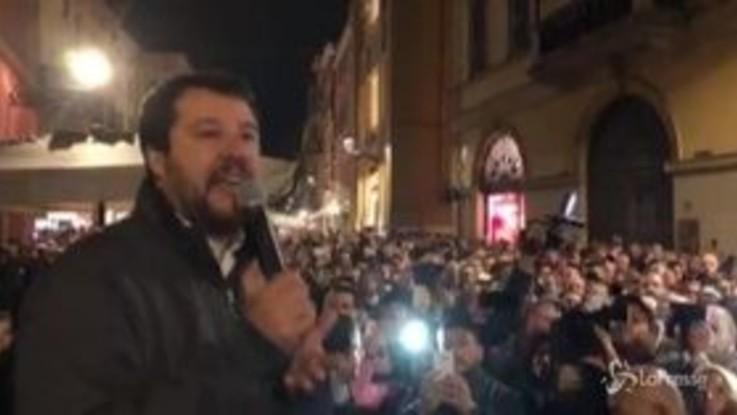 """Regionali Emilia-Romagna, Salvini: """"A gennaio dopo 50 anni mandiamo a casa la sinistra"""""""