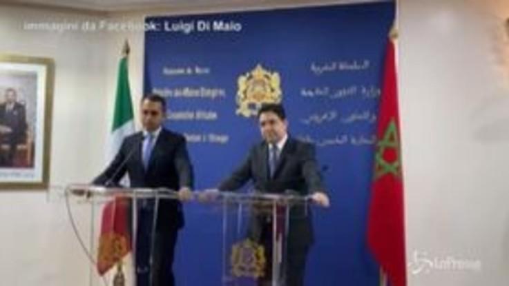"""Di Maio: """"Italia guarda a Marocco come Paese strategico per definire politica nel Mediterraneo"""""""