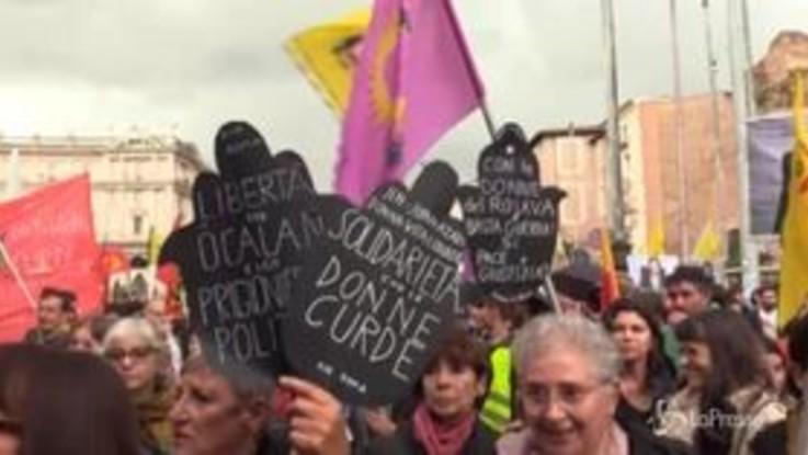 Roma, manifestazione nazionale di solidarietà con il popolo curdo
