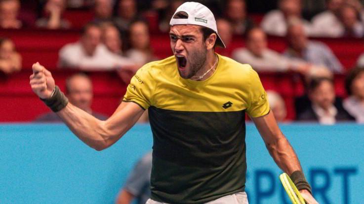 Berrettini vola alle Atp Finals dopo la sconfitta di Monfils a Bercy