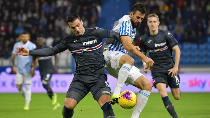 Serie A, la Samp batte la Spal in pieno recupero: 1-0 a Ferrara