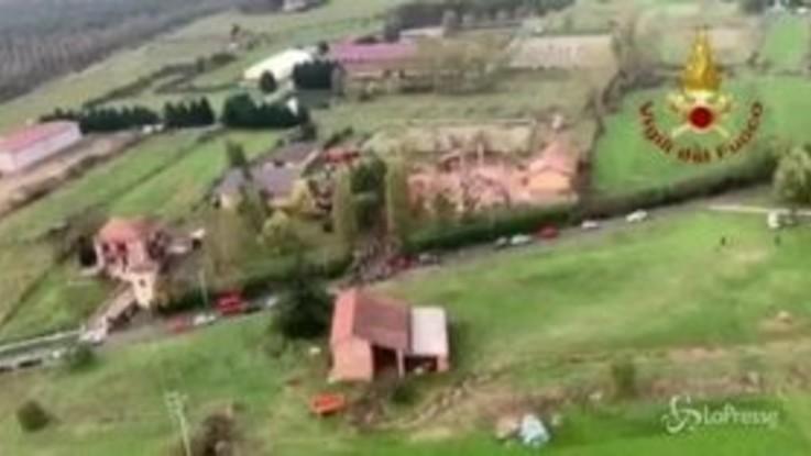 Esplosione Alessandria, le immagini aeree dal luogo del disastro