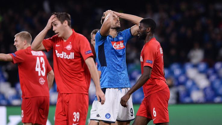 Champions League, Napoli fermato sull'1-1 dal Salisburgo