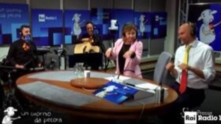'Un Giorno da Pecora', l'ex ministra Grillo scatenata sulle note di 'Thriller'