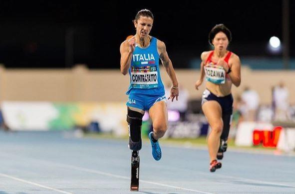 Mondiali Paralimpici, Contrafatto d'argento nei 100 metri
