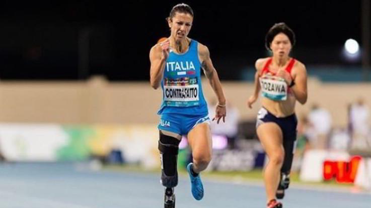 Mondiali Paralimpici, Contraffatto d'argento nei 100 metri