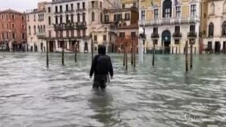 """Tra i turisti arrivati a Venezia per la piena storica: """"Siamo venuti apposta per vederla"""""""